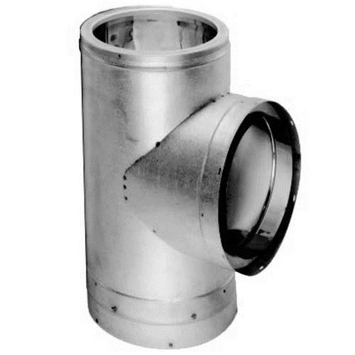 "6"" Dura Vent Duratech Tee, Stainless With Cover"