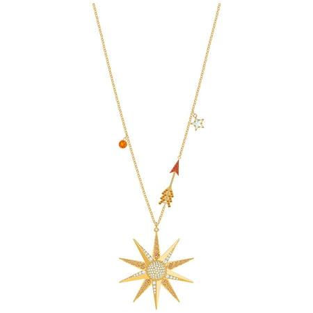 Swarovski Lucky Goddess Star Necklace - Multi-coloured - Gold Plating