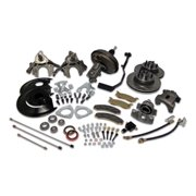 SSBC Performance Brakes A132-A Drum To Disc Brake Conversion Kit; Front; w/Single-Piston Cast Iron Calipers; Power; Incl. New Disc Brake Spindles;