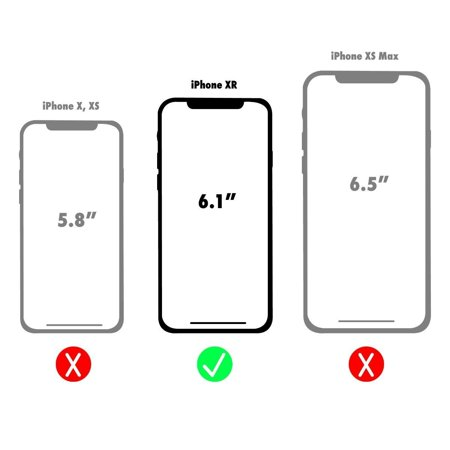 Case-Mate Tough Clear Case and Metal Ring Grip for Apple iPhone XR - Clear/Black - image 2 de 2