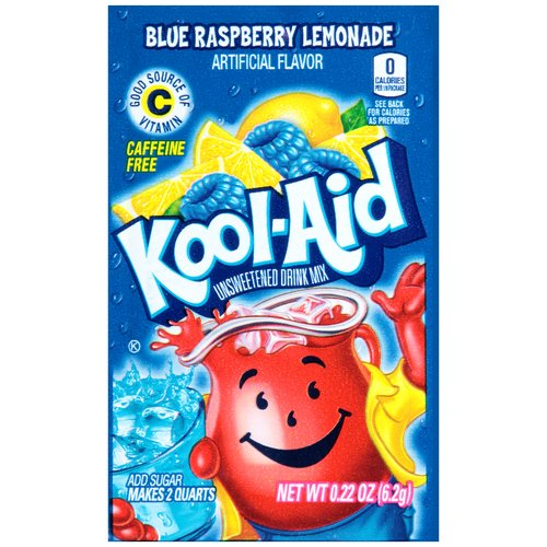 Kool-Aid Blue Raspberry Lemonade Unsweetened Drink Mix, 0.22 oz