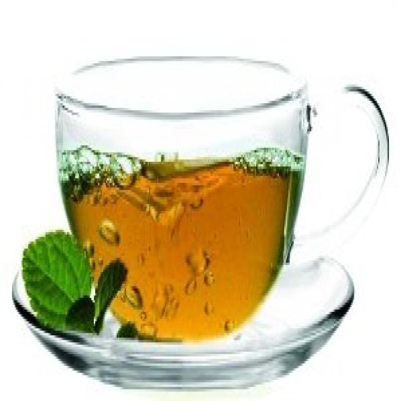 Sun's Tea (TM) 8oz Ultra Clear Glass Tea/Coffee Cup & Cle...