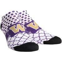 Washington Huskies Rock Em Socks Women's Quatrefoil Dots Low Ankle-Length Socks - S/M
