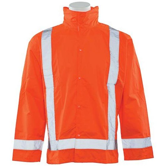 discount shop famous brand new york SS500P-5X-6X Rain Jacket with Detachable Class 3 Hood, Orange - 5XL & 6XL