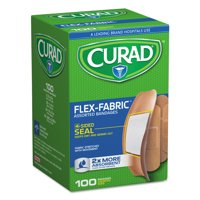 Curad Flex Fabric Bandages, Assorted Sizes, 100 per Box