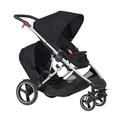 phil and teds voyager stroller with doubles kit (black)