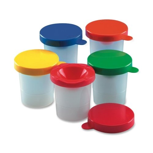 Cli Paint Cup - 10/set - Plastic - Assorted (LEO73010)