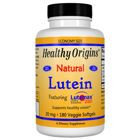 Healthy Origins Lutein 20 mg Vegetarian Softgels, 180 (100 Mg Vegetarian Softgels)