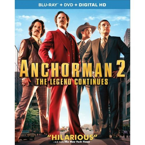 Anchorman 2:The Legend Continues (Blu-ray   DVD   Digital HD) (With INSTAWATCH) (Widescreen)