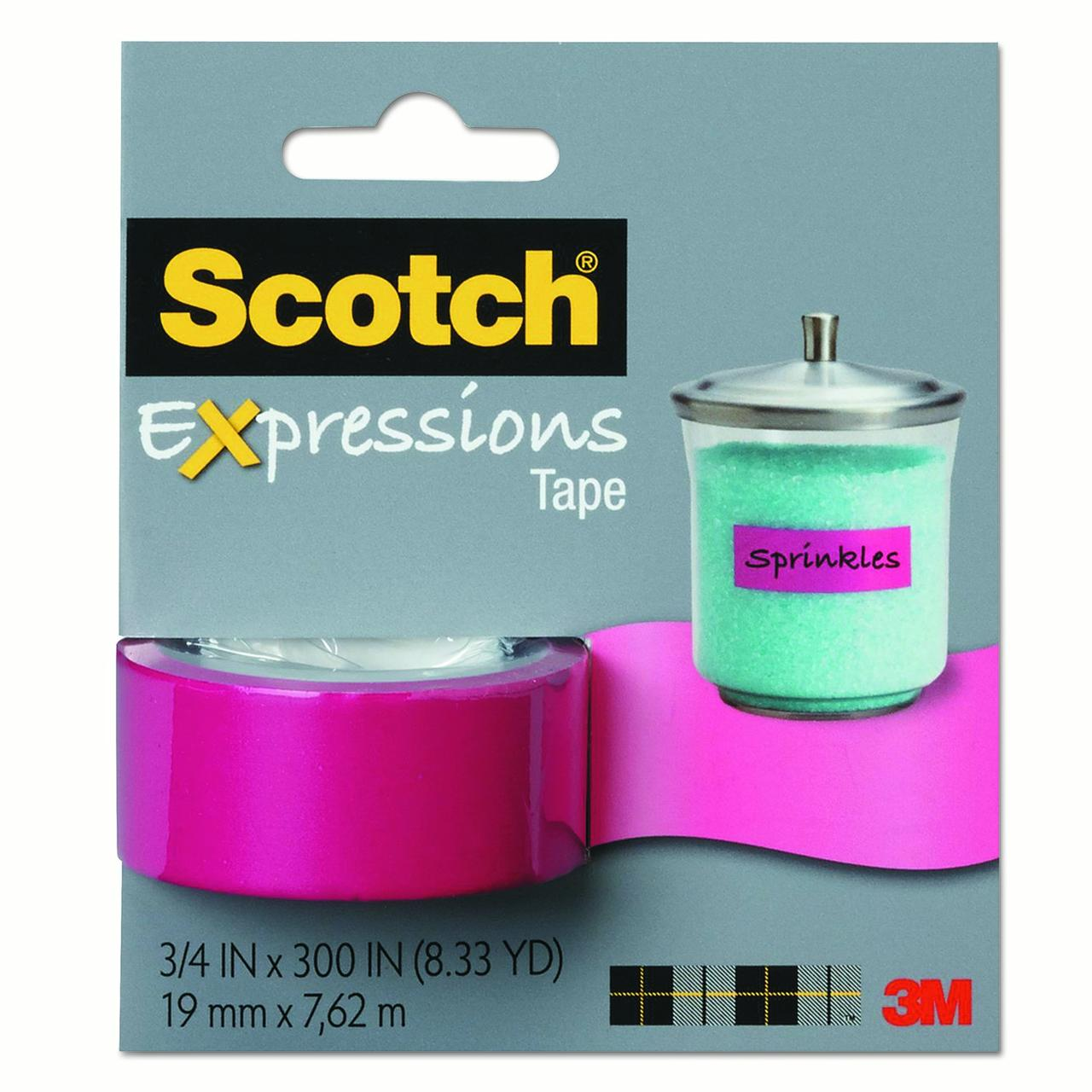 "Scotch Expressions Magic Tape, 3/4"" x 300"", Pink"