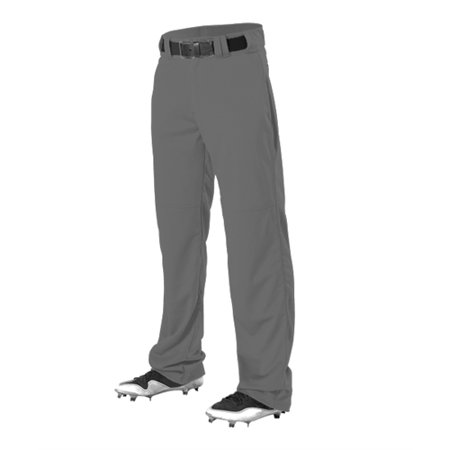 Alleson Youth Polyester Football Pant (Alleson Youth Relaxed Fit Open Bottom Baseball Pants  w/ Adjustable Inseam)