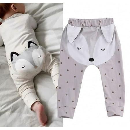 Polka Dot Ruffle Legging - Cute Fox Baby Boys Girls Dot Bottom Harem Pants Legging PP Pants Trousers 0-24M