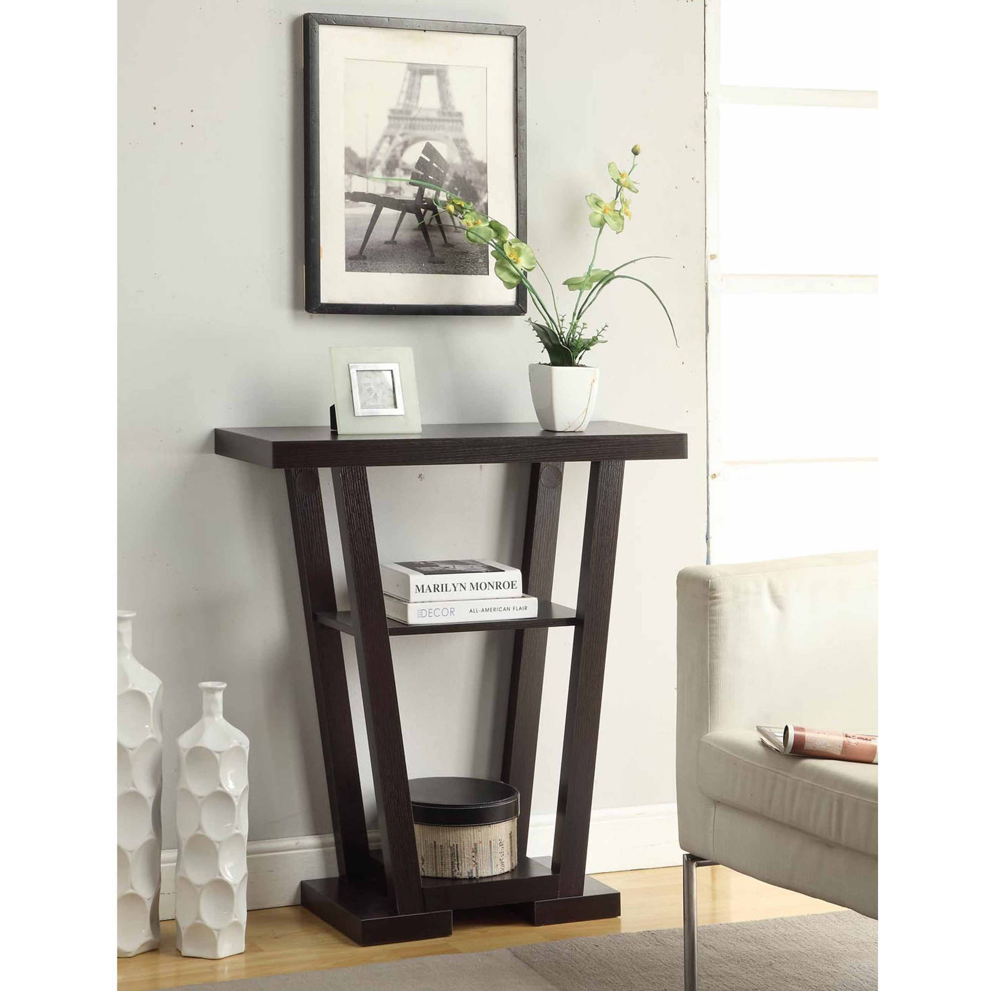 Convenience Concepts Newport V Console Table, Multiple Finishes