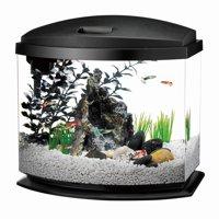 Aqueon MiniBow Aquarium LED Starter Kit, 5 Gallon, Black