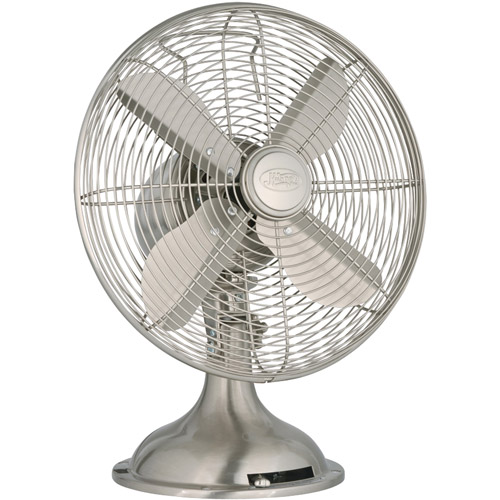 Hunter 90400 All-Metal 12 inch Table Fan - Brushed Nickel