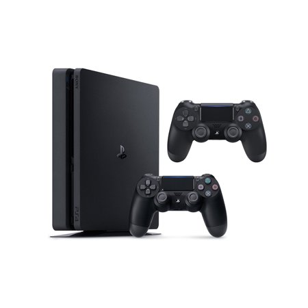 Sony PlayStation 4 Slim, 1TB Gaming Console with 2nd Controller
