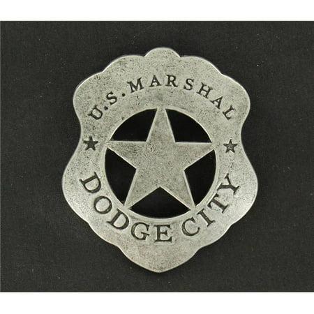 M&F Western 28218 US Marshall Dodge City Toy Badge