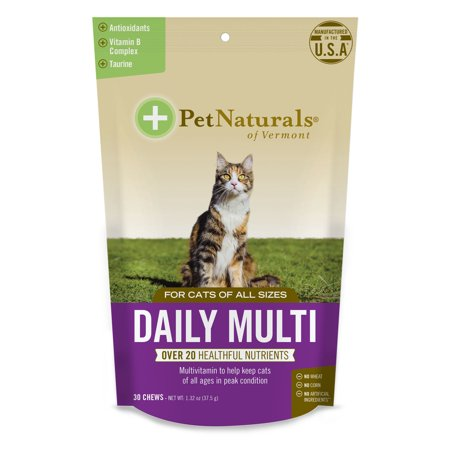 Pet Naturals of Vermont Daily Multi for Cats, Daily Multivitamin Formula, 30-Bite Sized