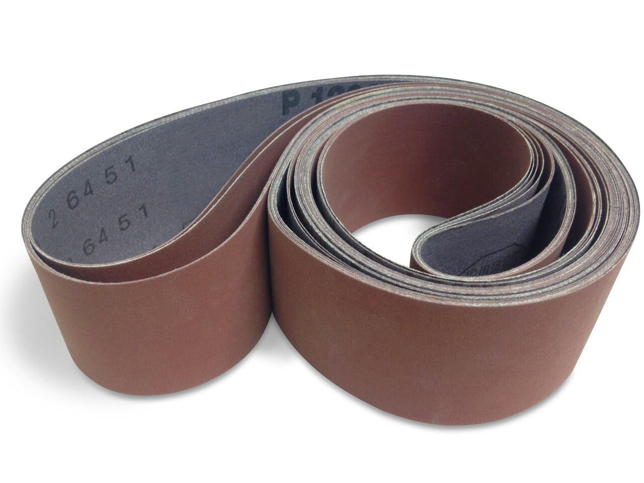"6 Pack /"" 2 X 42 Inch 80 Grit Flexible Aluminum Oxide Multipurpose Sanding Belts"