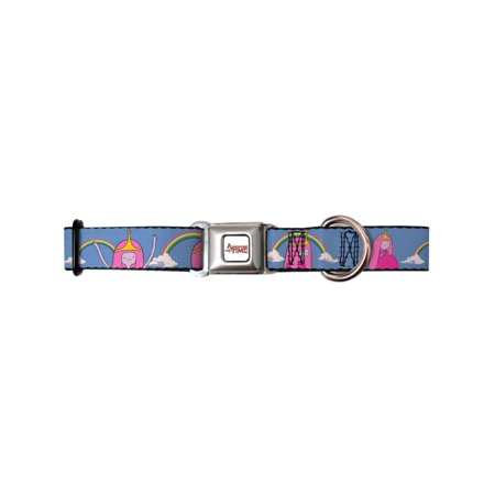 Dog Collar ATA-Adventure Time Logo White - Princess Bubblegum Rainbows - Pet Collar