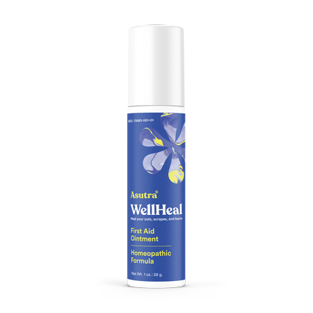 Asutra, WellHeal, Antibiotic-Free All-Natural First Aid Ointment, Homeopathic Medicine, 1 oz. ()