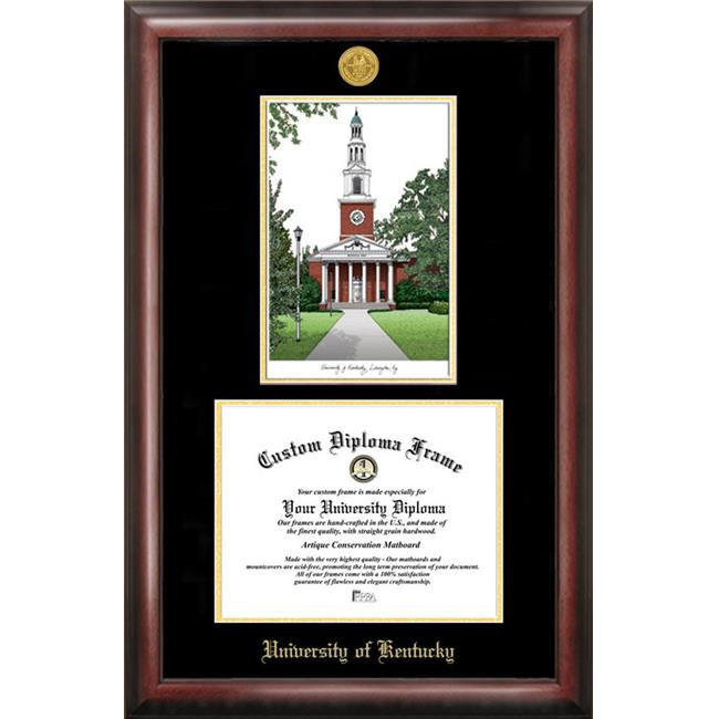 Campus Images KY998LGED University of Kentucky Gold embossed diploma frame with Campus Images lithograph - image 1 of 1