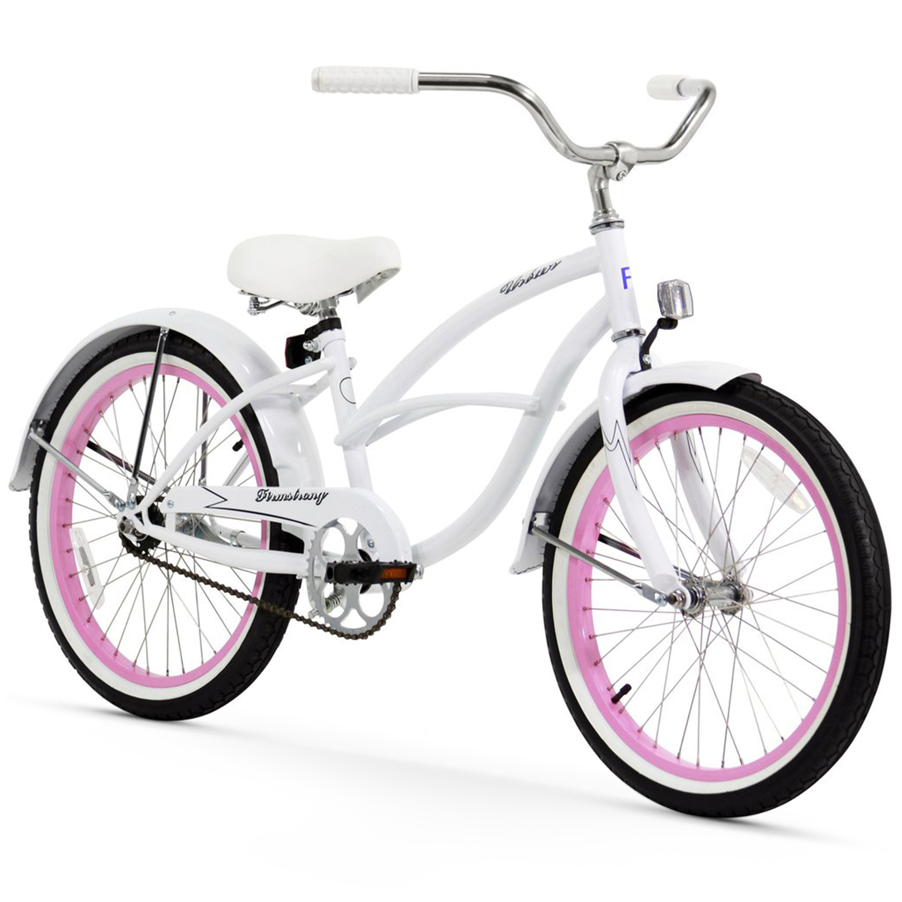 "Firmstrong 20"" Girl's Urban Beach Cruiser Bicycle, 1 Speed"