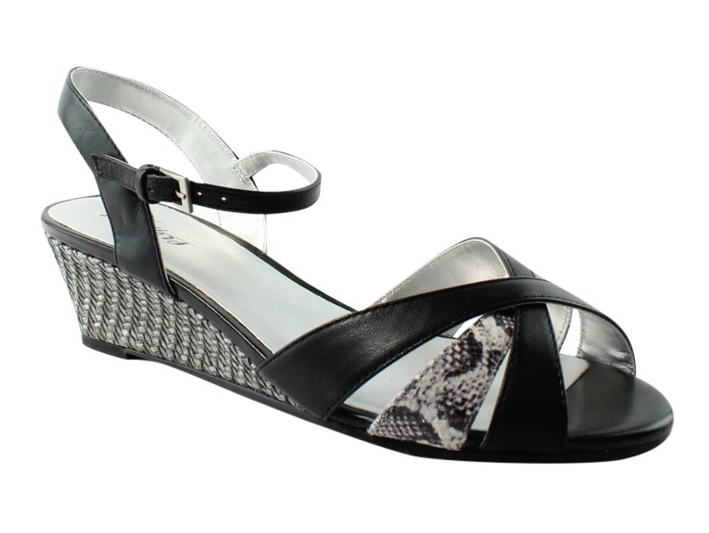 Trotters Womens Black BlackGrey Ankle Strap Sandals Size 8 New by Trotters