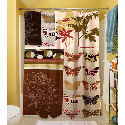 "Thumbprintz Botanical Collage Shower Curtain, 71"" x 74"""