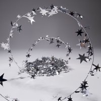 party deco 04901 25 ft. silver star wire garland - pack of 12