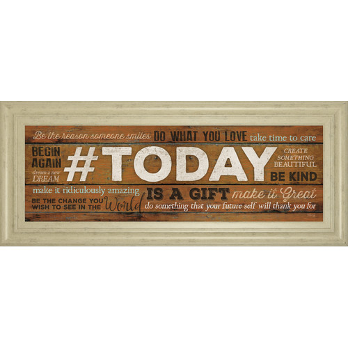 Classy Art Wholesalers Today is a Gift by Marla Rae Framed Textual Art by Classy Art Wholesalers