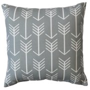 FHT Premiere Home Arrow Cool Grey 17x17 Throw Pillow