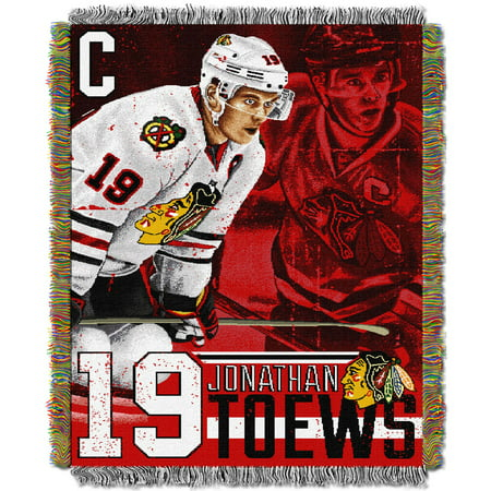Jonathan Toews Chicago Blackhawks The Northwest Company 48 x 60 Players Woven Tapestry Throw