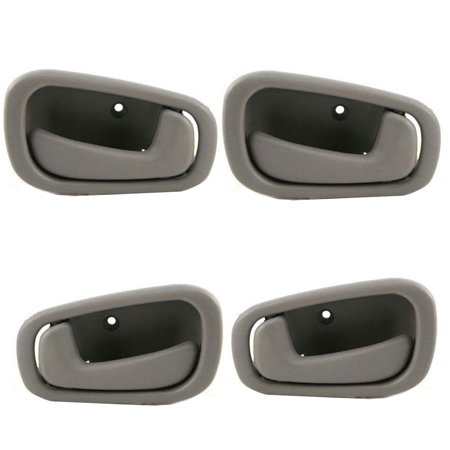 For 98-02 Chevrolet Prizm Toyota Corolla Gray Interior Inner Door Handle 4PCS Full Set 98 99 00 01 02 DH44