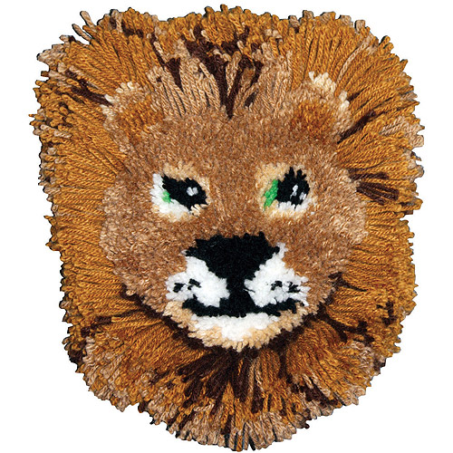 Huggables Lion Pillow Latch Hook Kit