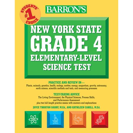 Barron's New York State Grade 4 Elementary-Level Science Test