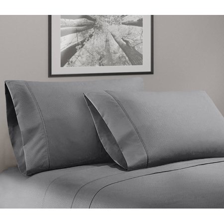 (Greek Key Ultra Soft 1800 Series Egyptian Comfort 4 Piece Sheet Set (king, Grey))