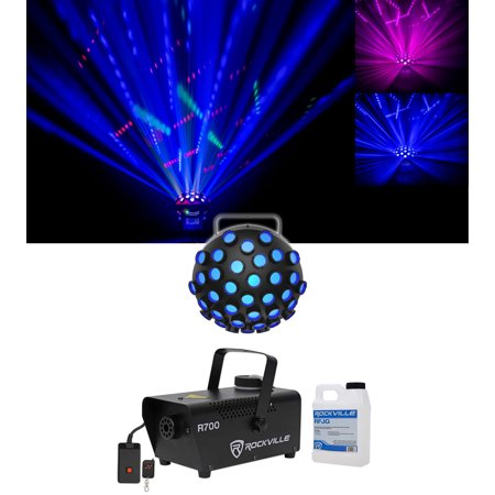 Chauvet DJ Line Dancer DMX Rotating Dance Floor Party Effect Light+Fog Machine - Dance Floor Giveaways