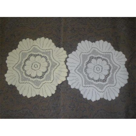Lace Doilies For Sale (Tapestry Trading 558I16 16 in. European Lace Doily,)
