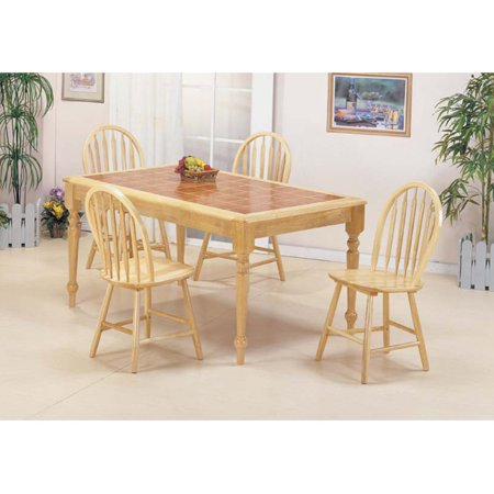 (Farmhouse Natural Arrow Back Windsor Side Chairs - Set of 4)