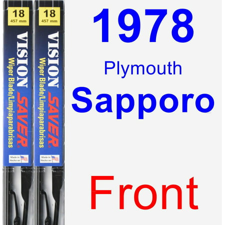 1978 Plymouth Sapporo Wiper Blade Set/Kit (Front) (2 Blades) - Vision Saver ()