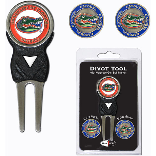 Team Golf NCAA Florida Divot Tool Pack With 3 Golf Ball Markers