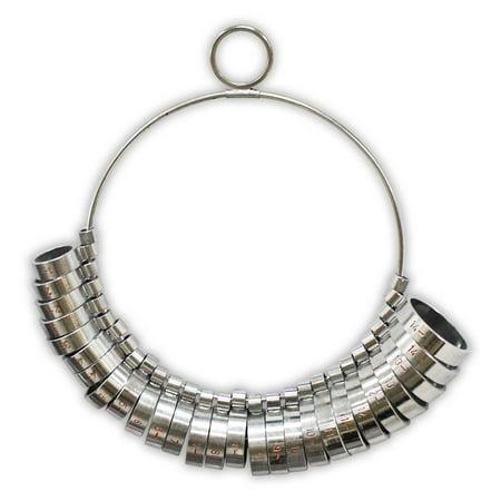1-15 Ring Sizer - 29-Piece Wide Band Set  (ToolUSA: