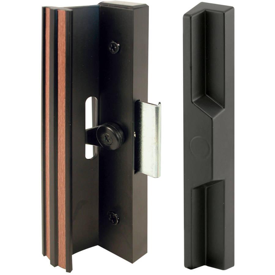 Prime Line C1106 Black Aluminum and Diecast Sliding Door Handle Set