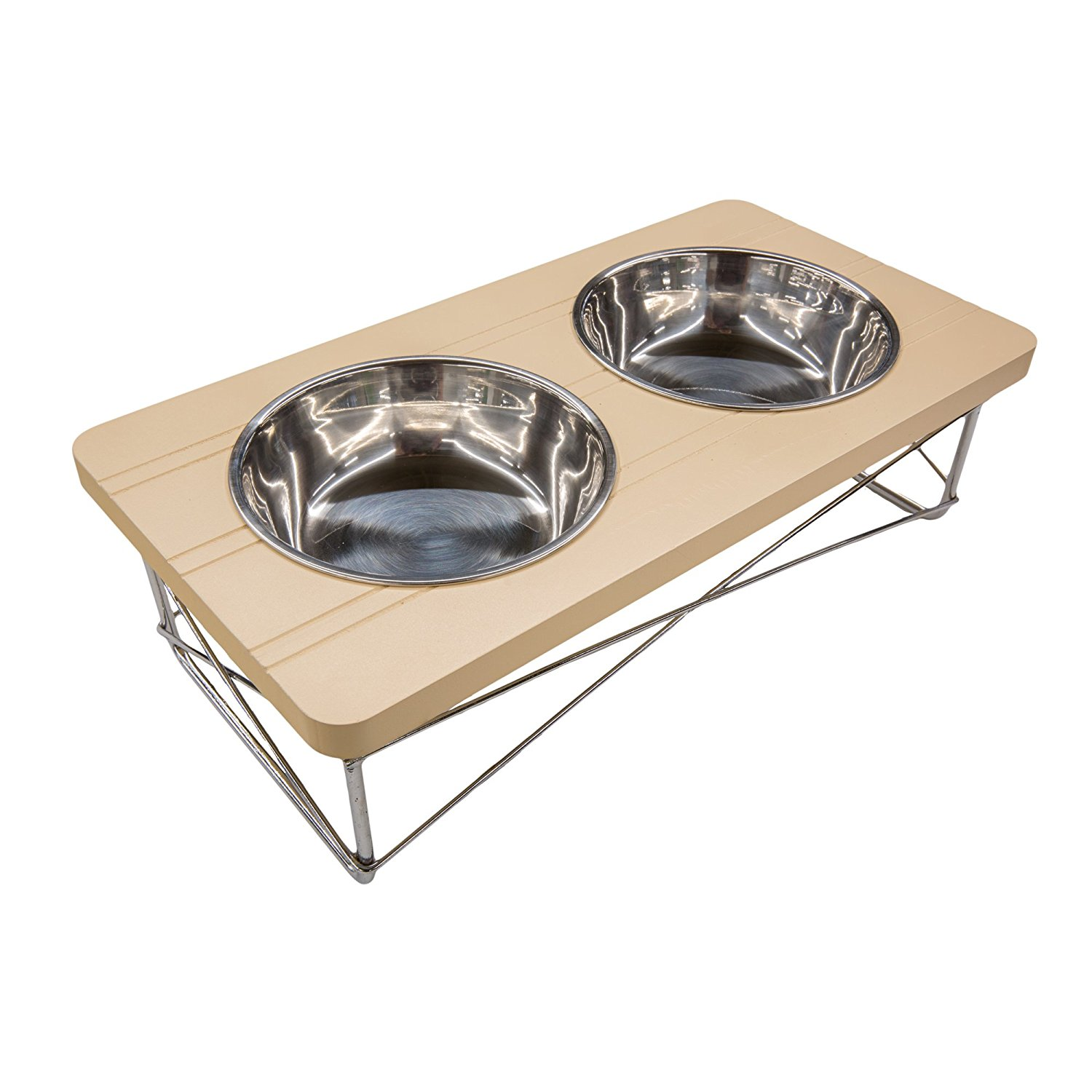 easyology pets stainless steel double elevated pet bowls cat small dogs feeder raised
