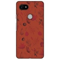 Google Pixel 2 XL Case - Colours of Autumn, Hard Plastic Back Cover. Slim Profile Cute Printed Designer Snap on Case with Screen Cleaning Kit