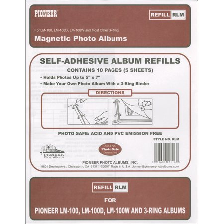 Pioneer Magnetic Photo Album Refill Pages 825x105 5pkg
