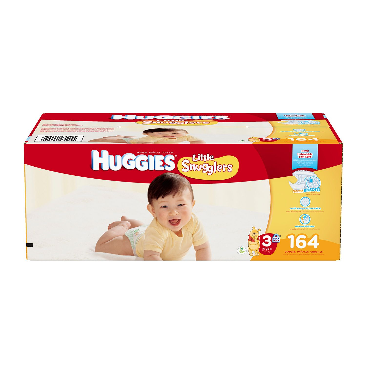 Huggies Little Snugglers Diapers - Size 3 (164 ct.)