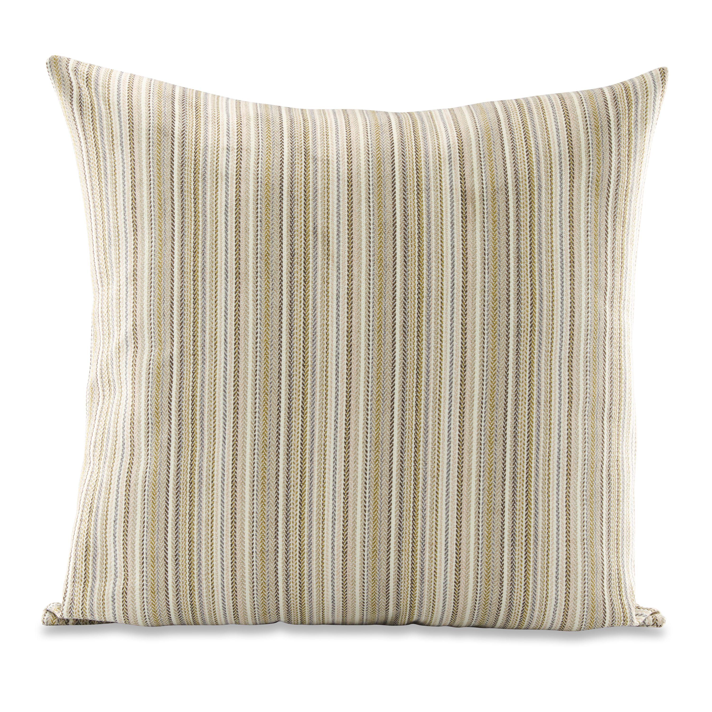 "Better Homes & Gardens Multi-Stripe Herringbone Decorative Throw Pillow, 24"" x 24"", Ivory"