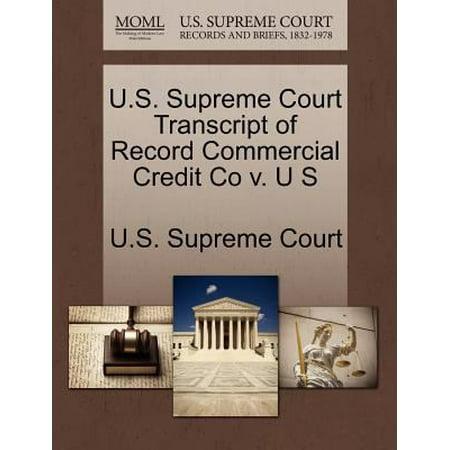 U S  Supreme Court Transcript Of Record Commercial Credit Co V  U S
